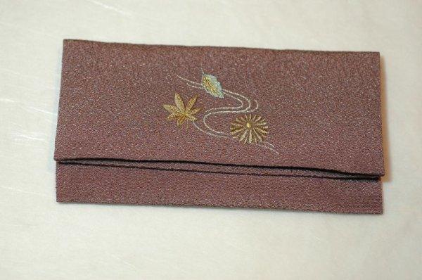 画像1: ちりめん桜小紋 念珠袋 (1)