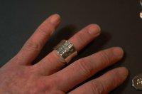 画像1: SV八葉蓮華指輪 ワイドタイプ