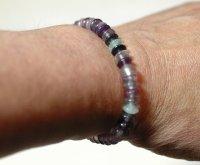 画像1: 紫金石(ブルーゴールドストーン)天台平玉mini マインドブレス
